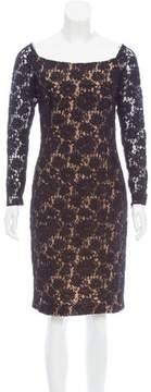 Carmen Marc Valvo Lace Midi Dress