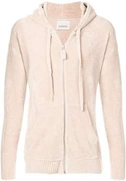 Laneus Chenille hooded sweatshirt