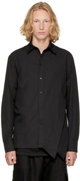 D.gnak By Kang.d Black Side Folded Shirt