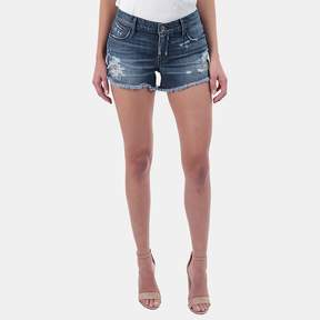 RtA Olivia Distressed Denim Short in Indie Wash