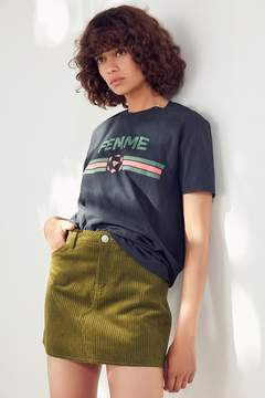 BDG Frayed Corduroy Mini Skirt