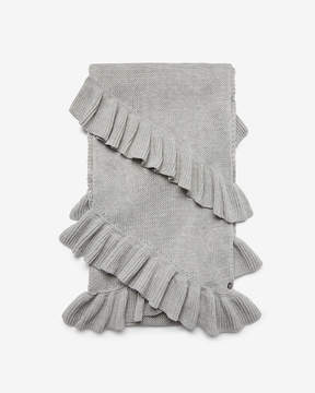 Express Double Ruffle Oblong Scarf