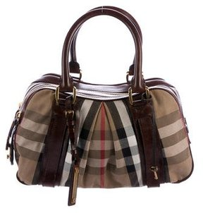 Burberry House Check Knight Shoulder Bag - BROWN - STYLE