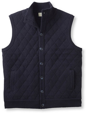 L.L. Bean Lambswool Sweater, Quilted Vest