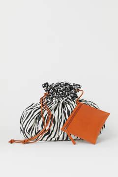 H&M Canvas Bucket Bag - White