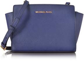 Michael Kors Selma Medium Admiral Blue Saffiano Leather Messenger Bag - NAVY BLUE - STYLE