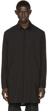 Ann Demeulemeester Black Long Striped Shirt