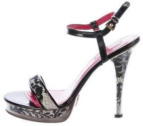 Cesare Paciotti Lace Slingback Sandals