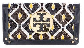 Tory Burch Quilted Leather Reva Clutch - BLUE - STYLE
