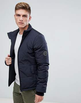 Jack Wills Holkham Puffer Jacket In Black
