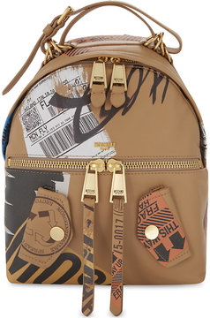 Moschino Packaging leather backpack