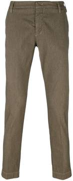 Entre Amis pattern embroidered trousers