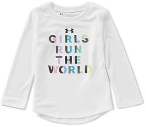Under Armour Little Girls 2T-6X Girls Run The World Tee
