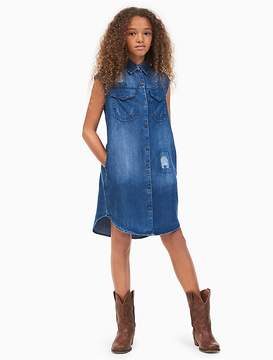 Calvin Klein Jeans Girls Lyocell Denim Shirtdress