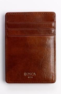Bosca Men's 'Old Leather' Front Pocket Wallet - Brown