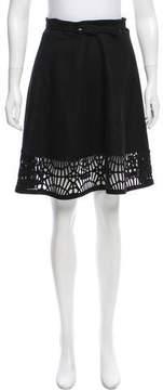 Susana Monaco Laser Cut Knee-Length Skirt