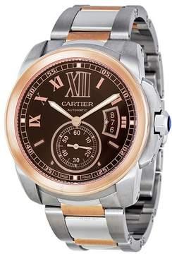 Cartier Calibre De Chocolate Brown Dial Men's Watch