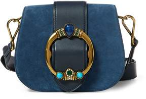 Ralph Lauren Jeweled Suede Lennox Bag