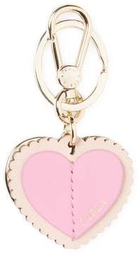 Furla Women's Leather Heart Keyring