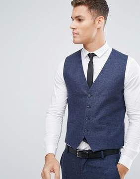 Selected Slim Vest In Italian Wool Mix
