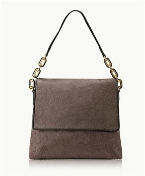 GiGi New York Sofia Shoulder Bag Anthracite Italian Haircalf
