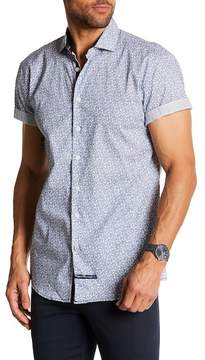 English Laundry Print Classic Fit Short Sleeve Shirt