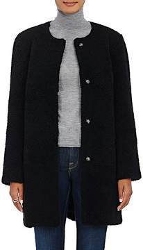 Barneys New York Women's Lamb Shearling Cocoon Coat
