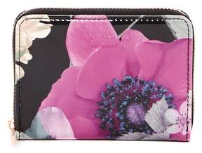 Ted Baker Lilibe Neon Poppy Floral Printed Zipped Mini Purse