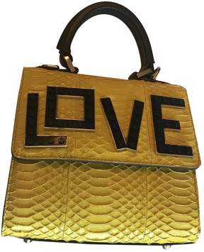 Les Petits Joueurs Yellow Python Handbag