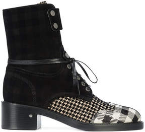 Laurence Dacade checked panel boots
