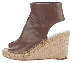 Celine Leather Espadrille Wedges