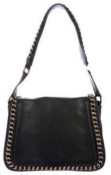 Tory Burch Leather Chain-Link Flap Bag
