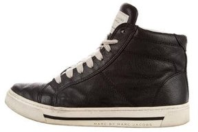 Marc by Marc Jacobs Leather High-Top Sneakers