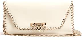 VALENTINO Demilune leather clutch bag