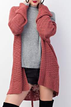 Easel Knitted Sweater Cardigan