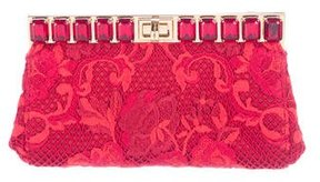 Dolce & Gabbana Embellished Lace Bag - RED - STYLE