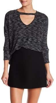Dee Elly Front Cutout Knit Sweater
