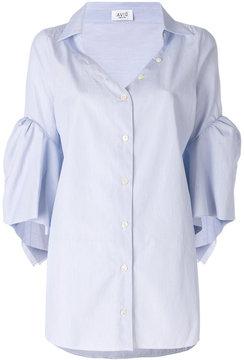 Aviu plain open chest shirt