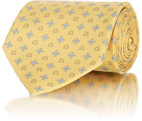Salvatore Ferragamo Men's Diamond- & Gancio-Print Silk Necktie