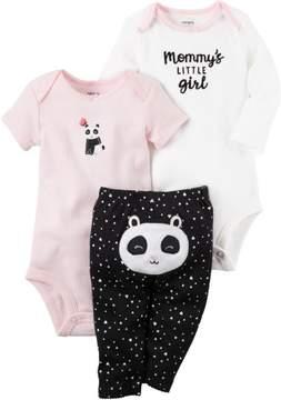Carter's Baby Girls 3-pc. Panda Layette Set