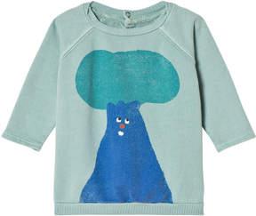 Bobo Choses Beryl Green Tree Long Sleeve Sweatshirt