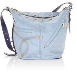 Marc Jacobs The Sling Convertible Studded Denim Bag