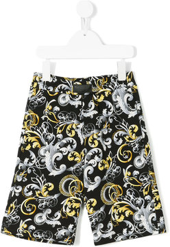 Young Versace baroque print shorts
