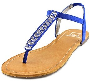 Material Girl Sage Women Open Toe Canvas Blue Thong Sandal.