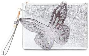 Sophia Webster Flossy Butterfly Metallic Leather Pouch