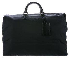 Gucci Leather-Trimmed Nylon Tote