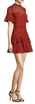 Mila Louise AMUR Lace Bell-Sleeve Mini Dress
