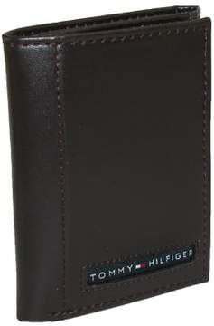 Tommy Hilfiger Men's Leather Cambridge Trifold Wallet, Brown