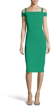 ECI Women's Cold Shoulder Ruffle Sheath Dress