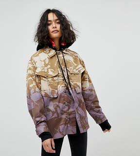 Reclaimed Vintage Revived Military Jacket In Dip Dye